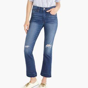 J. Crew Billie Demi Boot Crop Jeans 25